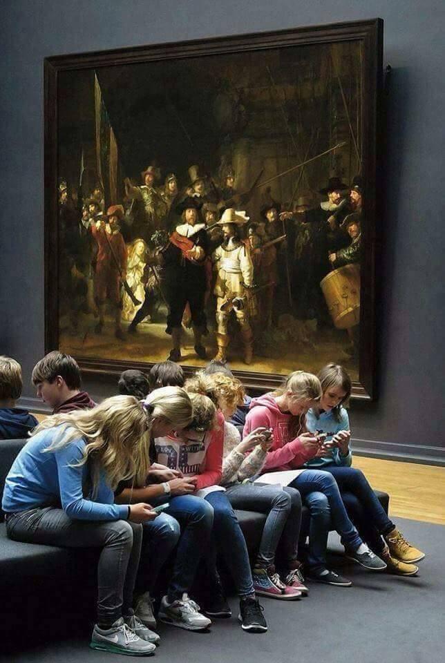 люди в музее
