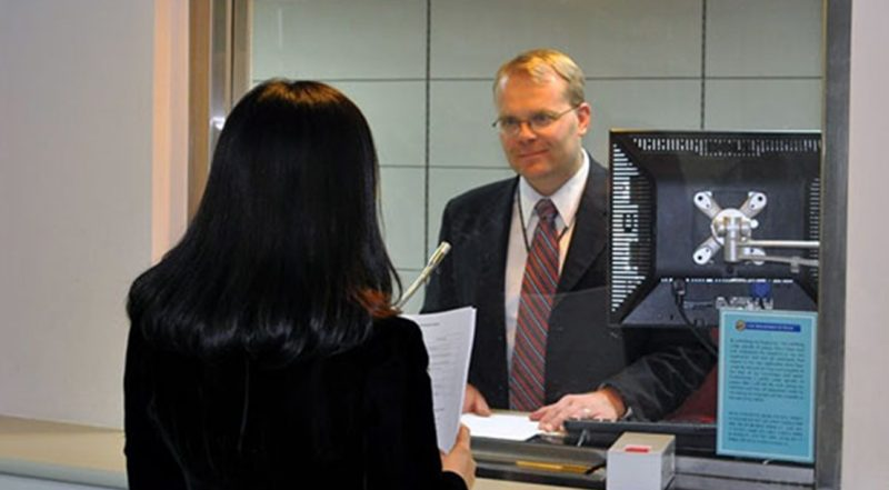 Интервью в посольстве США