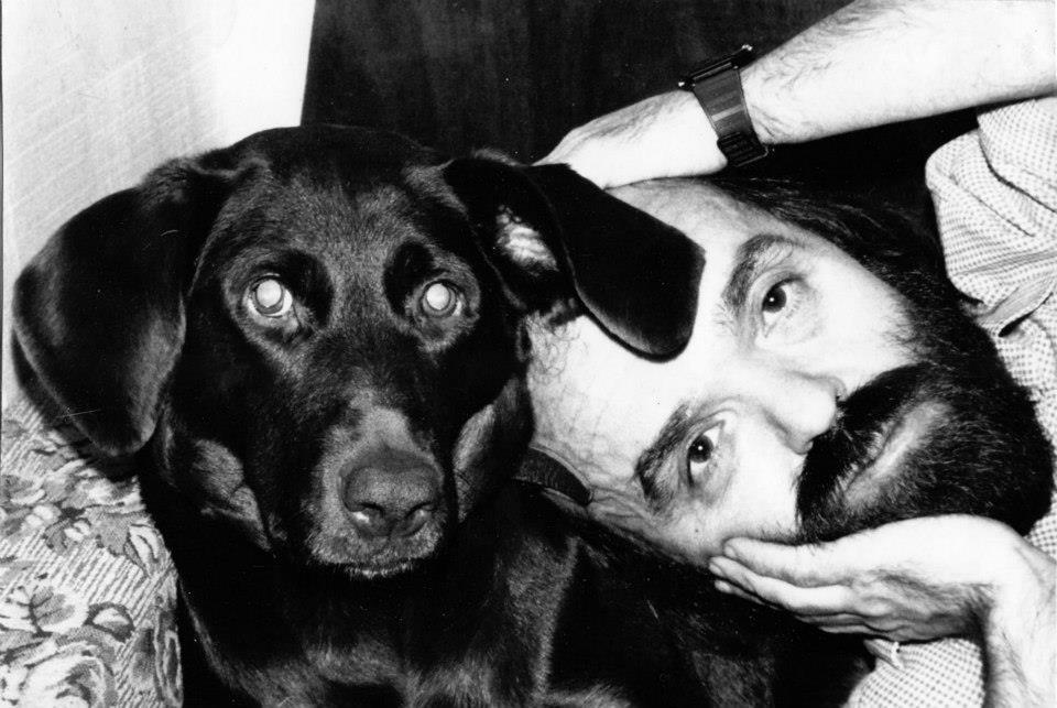едоров-Черномор с любимой собакой Ладой